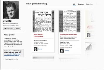 Profile page on Newport Daily Press Archive
